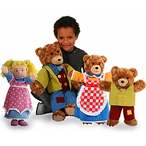 Goldilocks and the Three Bears Giant Story Teller Puppets