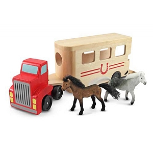 Horse Box Wooden Play Set