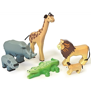 Savannah Wooden Wild Animals Set