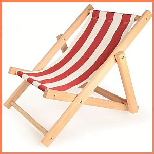 Child's Deck Chair Red