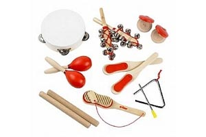 Wooden Musical Instrument Set