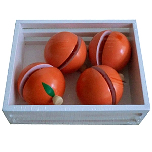 Crate of Wooden Oranges