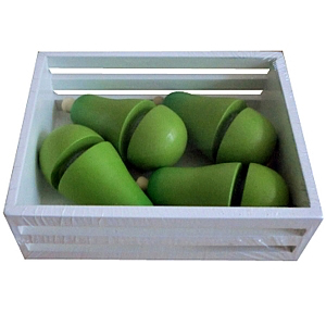 Crate of Wooden Pears